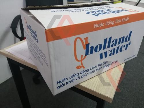 Sản xuất in ấn thùng carton đựng nước lọc nước suối chất lượng - in Flexo
